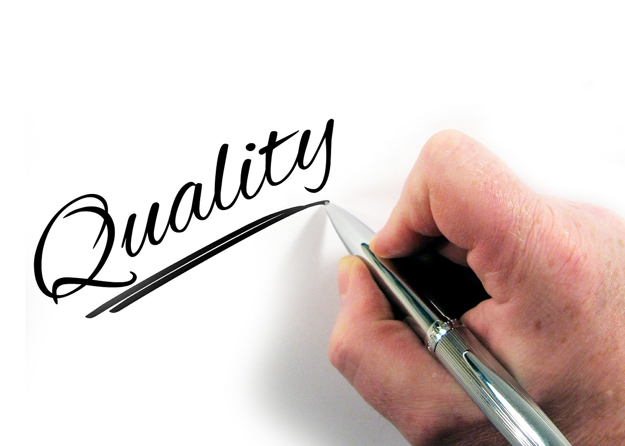 Writing the word quality